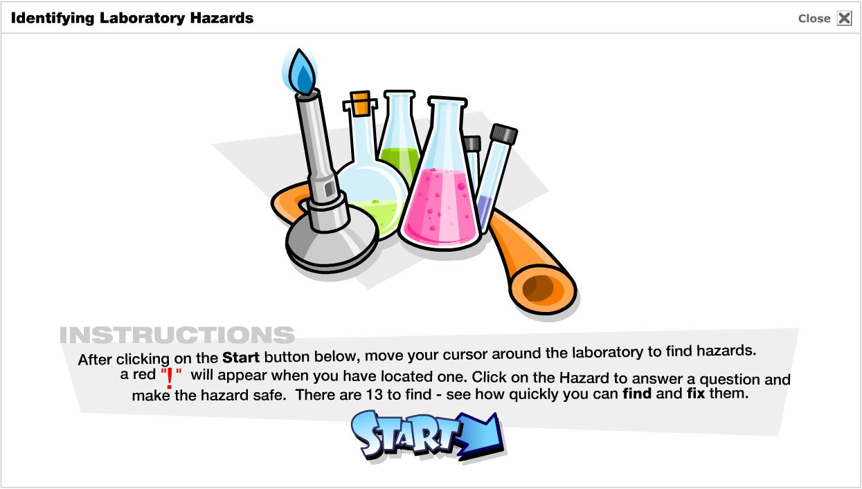 Lab Hazards game screenshot